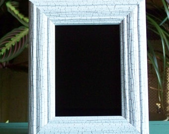 White Crackle Scrying Mirror 5x7