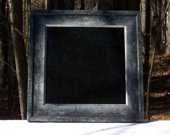 Black/Silver Scrying Mirror 12x12