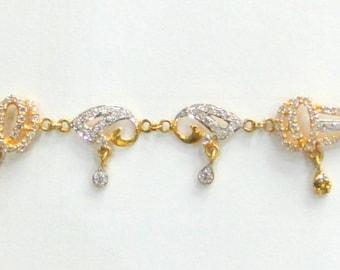 22k Solid Gold Bracelet bangle fine handmade jewelry traditional india