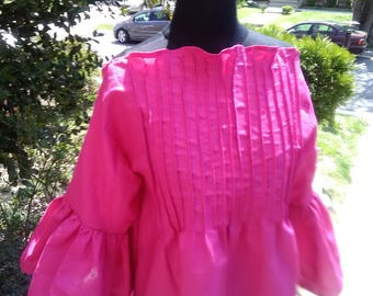 Pintucks & Ruffles Linen Top... Choose a Color