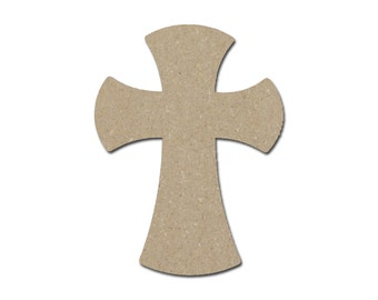 Unfinished Wood Cross Wooden Crosses 9.5  x 14.75 inch MDF Crafts Part MC15-121