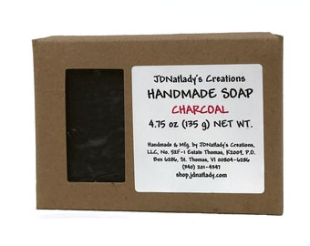Charcoal face soap - Handmade Soap - Activated Charcoal Soap - Facial Cleanser - Neem Soap - Soap - Tea Tree Oil - for the face - luxury