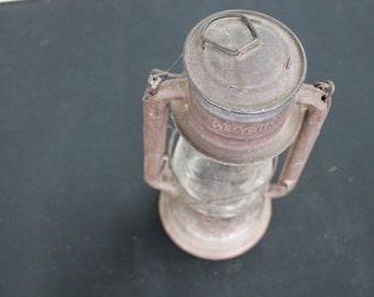 vintage prairie farmhouse metal Beacon lamp