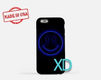 Blue Smiley Face iPhone Case, Smiley iPhone Case, Smiley iPhone 8 Case, iPhone 6s Case, iPhone 7 Case, Phone Case, iPhone X Case, SE Case