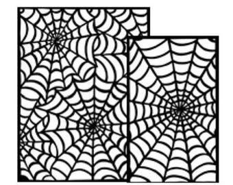 Ranger - Dyan Reaveley - Dylusions - Stencils - Cobwebs Small
