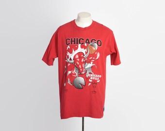 Vintage 90s CHICAGO BULLS T-shirt / 1990s Basketball Tee Shirt NBA xl