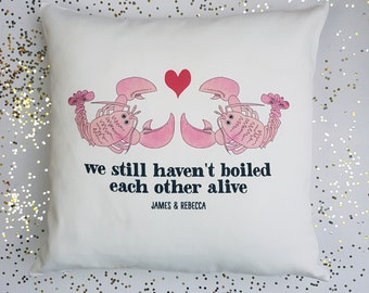 Lobster Personalised Cushion-Anniversary Gift-1st Anniversary Gift-Gift for Him-Gift for Animal Lover-Gift for Couple-Romantic Gift