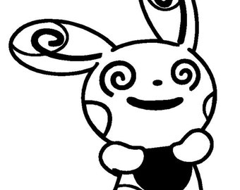 Pokemon Spinda - Anime Decal for Cars, Windows, Wall, Macbooks, Laptop, iPad, iPhone, Nintendo 3ds, XBox, Playstation etc
