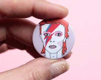 David Bowie Badge Aladdin Sane Design For Bags Coats Or Gift