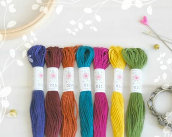 "Embroidery Floss ""Laurel Canyon"" - 7 Skeins Pack - Embroidery Thread by Sublime - Embroidery Thread - Sublime Stitching - Cotton Floss"