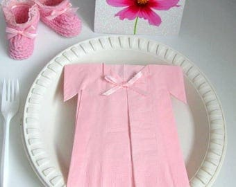 Baby girl shower decorations theme centerpieces decor pink napkins 20