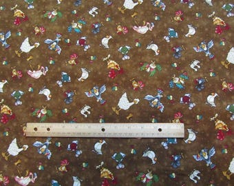 Brown Mouse/Chicken/Duck/Bird Henry Glass No Fowl Play Cotton Fabric by the Yard