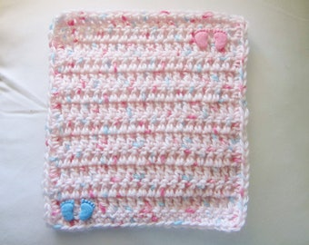Crocheted Multi Pastel Mini Blanket for your Dolls/OOAK