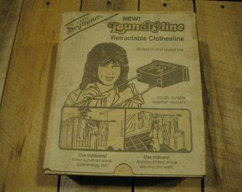 Retractable Clothes Line-Clothesline Holder-Clothesline Storage-Laundry supply-Laundry Line-Lady Seymour-Housewares-Farmhouse Laundry