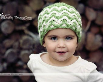 Crochet Pattern Aspen  Beanie (Newborn - Adult) - PDF - Instant Digital Download