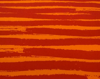 Tablecloth orange red large Lines Striped Modern Scandinavian Design , napkins , runner , curtains , pillow covers , great GIFT