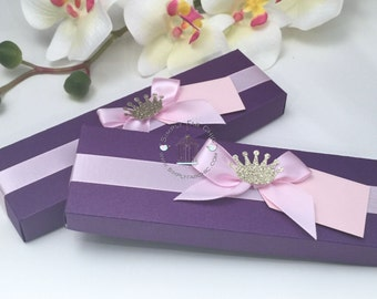 Scroll Invitation Boxes (Set of 10) | Decorative Scroll Boxes | Decorated Scroll Invite Box