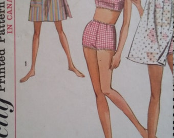 Vintage Simplicity 6018 Sewing Pattern Size 13 Bust 33 Two-Piece Bathing Suit and Dress in Two Lengths