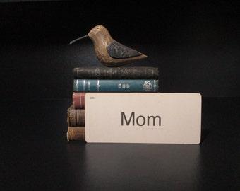 Vintage Flash Card Mom