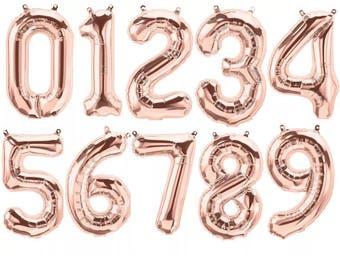 Rose Gold Foil letter/number balloon garland baby shower wedding parties birthdays