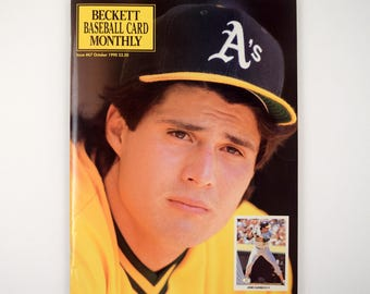 October 1990 Beckett Baseball Card Monthly Issue #67 Featuring Oakland A's Jose Canseco on Cover