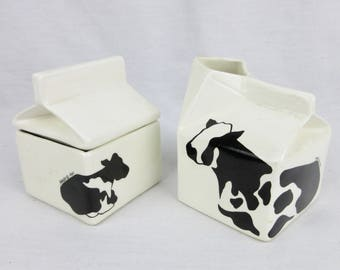 Vintage Holsteins by Margo Creamer and Sugar Bowl, 1984