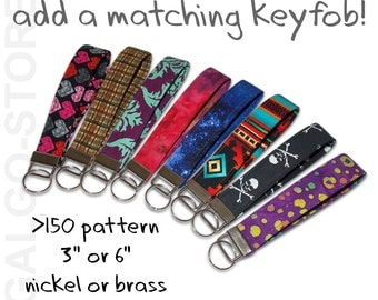 key fob, any design from our shop, valentines day, birthday gift, fabric keychain, keychain, key chain wristlet, gift for girls, small gift