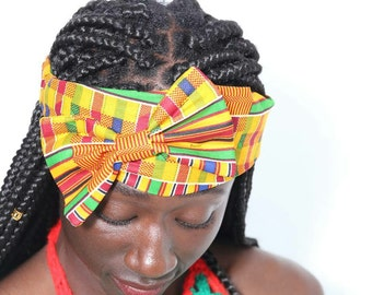 Afrikan print headband one size fit all