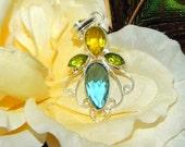 CUSTOM Nature Spirit Inspired Gemstone Pendant for V.