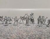 10 Vintage Metal Miniature Figurines 1983 TSR Hobbies Advanced Dungeons and Dragons  Heroes Set