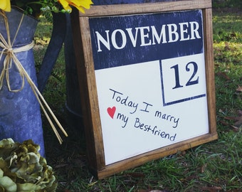Personalized Calender sign