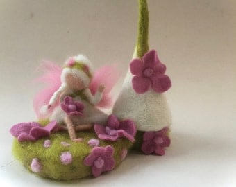 Tooth Fairy.Hand-felted. Wet  felted. Waldorf. Felted.