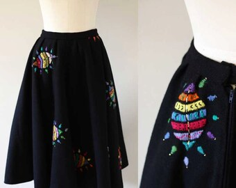 1960s wool circle skirt // 1960s wool circle skirt // vintage skirt