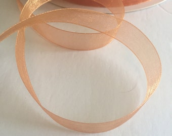 """Sheer copper 5/8"""" ribbon, 5 yards (180 inches)"""