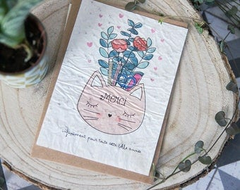 Postcard to plant: thank you (teacher, pre-school, nanny gift = end of year)