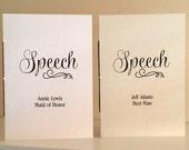 Wedding Speech Books - Maid of Honor's  Speech Book - Best Man's Speech Book