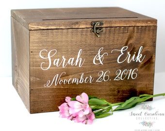 ... Box Wedding Card Box Wedding Card Holder Rustic Cards Box with