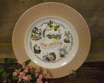 New Orleans Souvenir Plate Vintage Souvenir Plate
