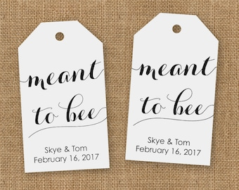 Meant to Bee Wedding Favor Tags - Honey Wedding Favor Tags - Wedding Favor Tags - Custom Wedding Favor Tags - Meant to Bee - Small Size