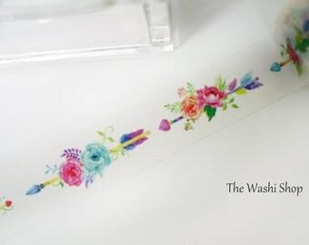 Floral Arrow Washi Tape(20mm x 5m)