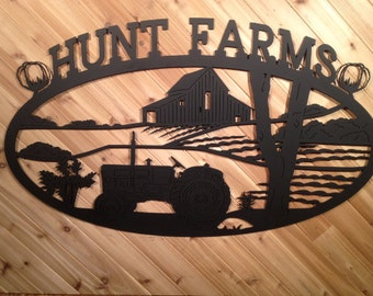 Custom Metal Wall Art Metal Sign Tractor and Name By PrecisionCut