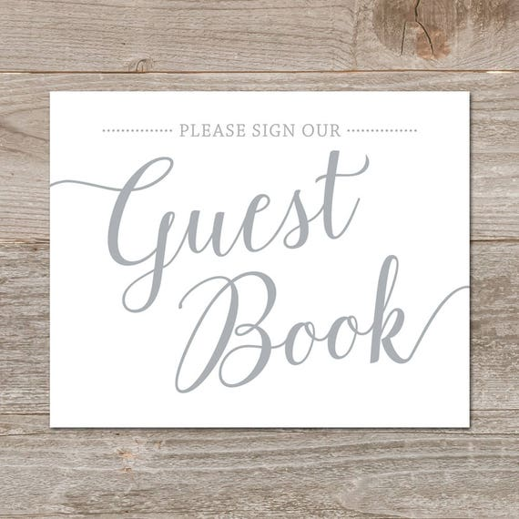 Bright image intended for please sign our guestbook free printable