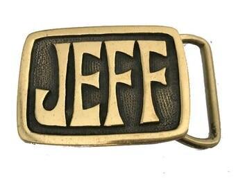 Vintage Jeff Name Belt Buckle - SALE - Boyfriend - Husband Gift Idea - Personalized