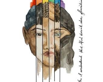 Lord Doesn't Show Favoritism 8x10 Digital Watercolor, Diversity Illustration, Bible Print, Bible Wall Art,