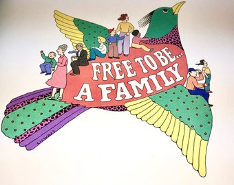 Free to Be a Family. Celebrate Diversity. Classic Picture Book. Marlo Thomas. Hardback Vintage Book. Signed by Author.