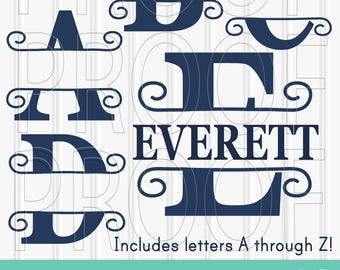 SVG Files Set of 26 Letters-Includes A through Z SVG PNG jpg formats all included monogram svg name svg {comes with blank center}