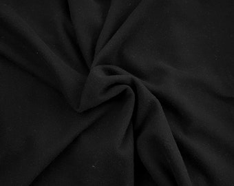 Black Cotton Blend French Terry Knit Fabric by the Yard 13oz 10/18/16