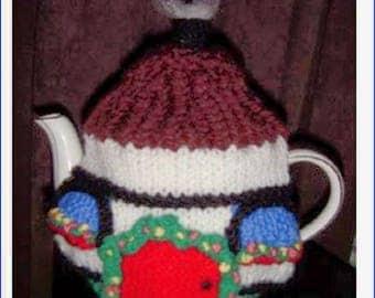 KNITTED TEA COSY -  Tea Cosy, Tea Cozy,  Hobbit Tea Cosy - Knitted Cozies - Knitted Tea Cosies