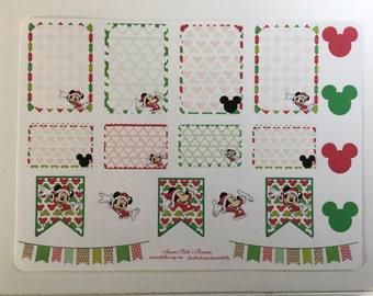 Disney Christmas Stickers For Planner, Erin Condren, Filofax, Scrapbooking