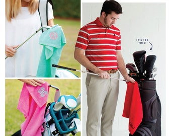 Golf towel for Men or Women. Great gift for Father's Day or Mother's Day.  Can be personalized just for you.
